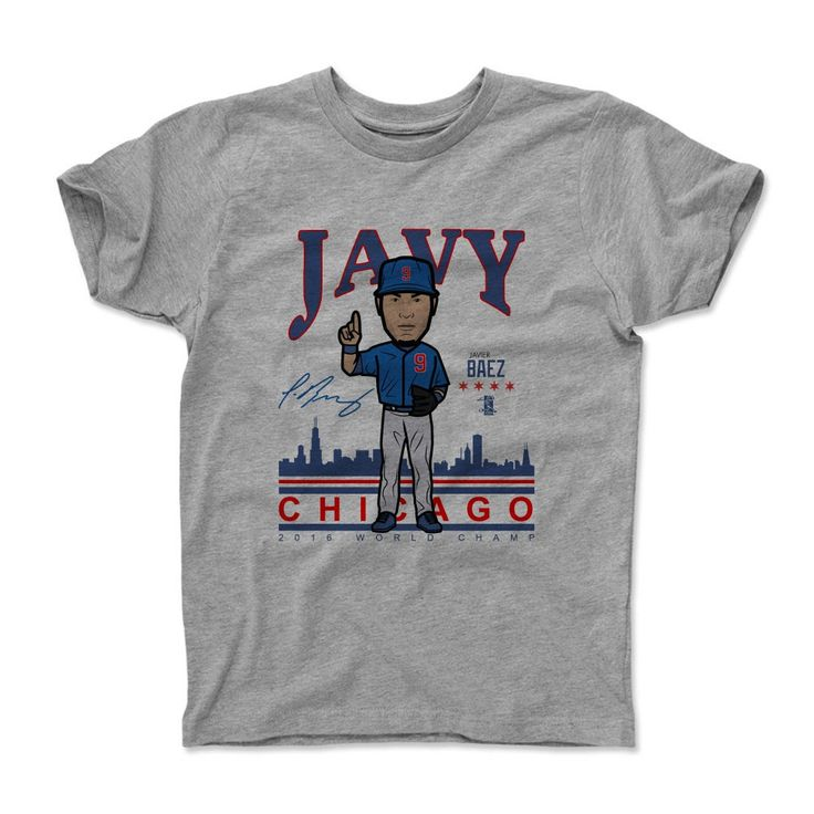 Javier Baez Javy BR Chicago MLBPA Officially Licensed Toddler and Youth T-Shirts 2-14 years
