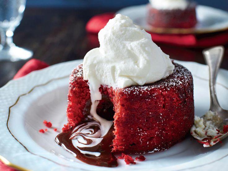 Molten Red Velvet Cakes image