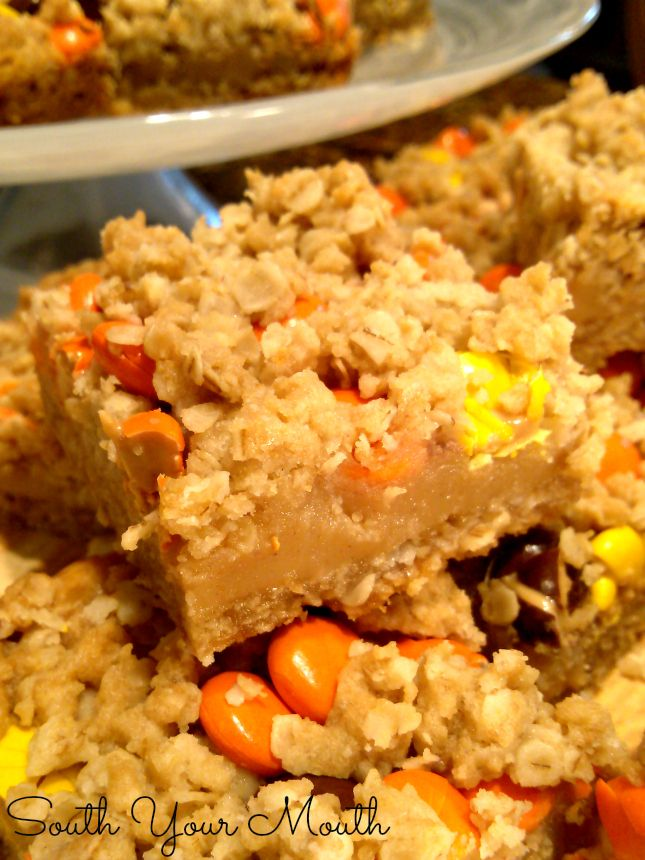 South Your Mouth: Reese's Peanut Butter Oatmeal Bars