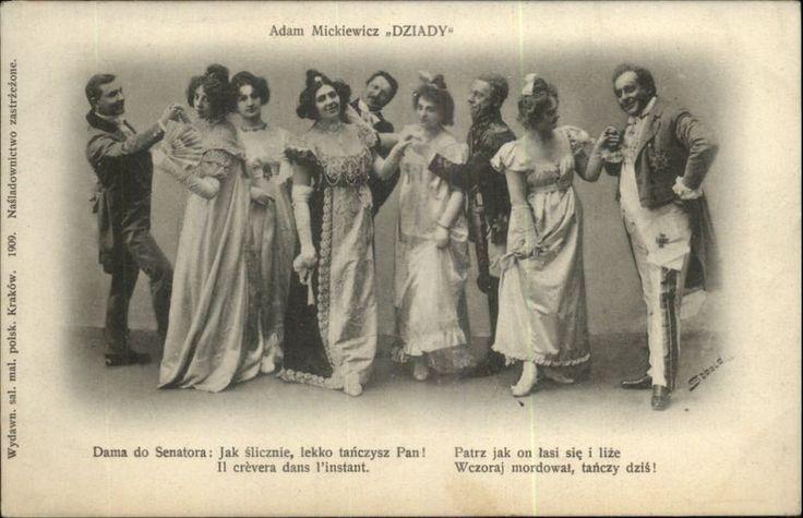 POLAND Adam Mickiewicz Dziady Group in Fancy Costumes POLISH c1910 Postcard