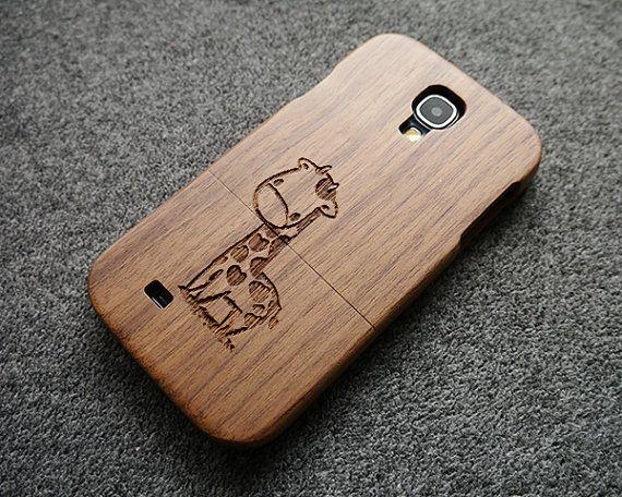 Walnut wood Samsung Galaxy S4 case  wood S4 case  by SilentCicada, $25.99