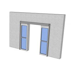 Automatic sliding doors Sketchup model