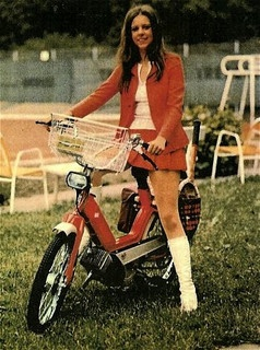 Consider, that women riding motorcycles in a mini skirt mine
