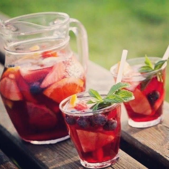 It's THIRSTY THURSDAY!  Quench your WILD thirst with our Jun In The Sun #Sangria.  Soak House Red #Wine with fresh cut fruit overnight.  Add the same amount of #WildTonic Raspberry Goji Rose and #drink! So simple yet so BEElicious! #DrinkUp #FermentedWithHoney