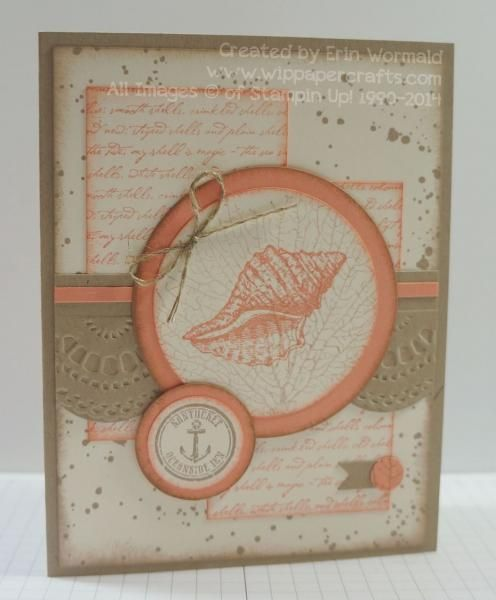 Stampin' Up! By the Tide, Delicate Designs embossing folder, Feminine Just Because Card