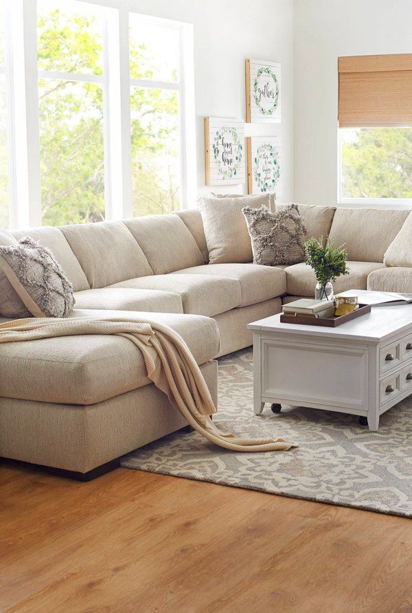 Meet Alpha The Sectional Your Livingroom Needs To Your Family Upholstered In Revolution Fabric The World S Sectional Sofa Beige Furniture White Fabric Sofa