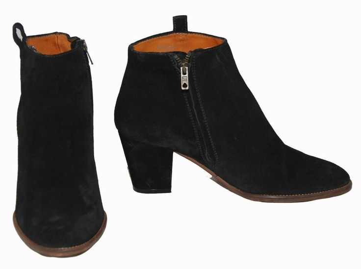 Madewell Made in Italy Black Genuine Suede (Leather) Women's Ankle Boots Size 8½