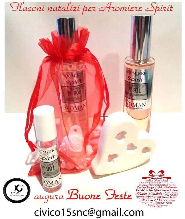 Flaconi special edition per Natale 2015...ogni confezione viene presentata con sacchetto in organza e gessetto in alabastrino in omaggio!!! 100% Artigianato d'Italia