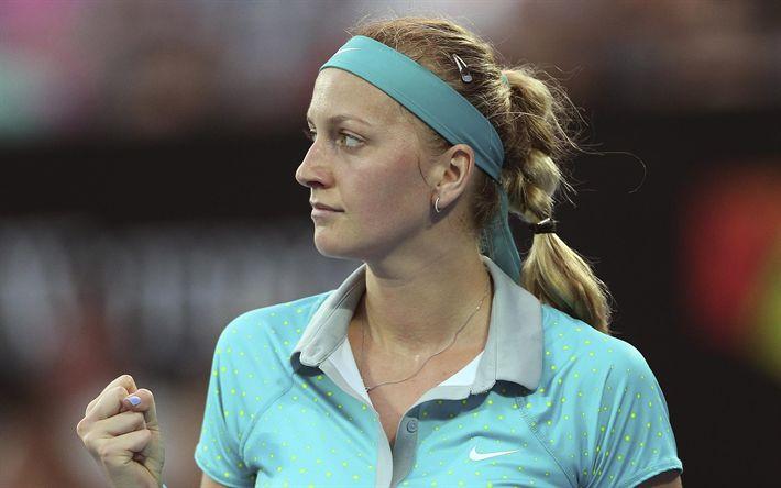 تحميل خلفيات بترا كفيتوفا, لاعب التنس التشيكي, صورة, جمهورية التشيك, WTA, التنس