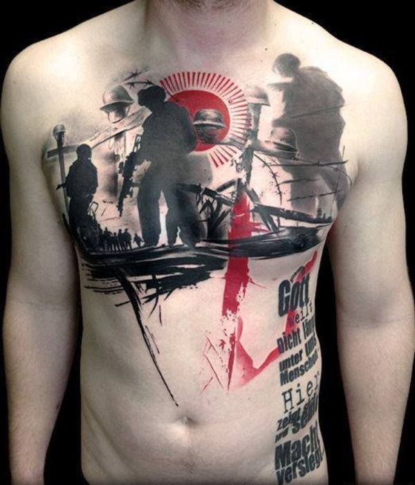 8381c44c3 81 Trash Polka Tattoo Designs Ideas For Inspiration | General ...