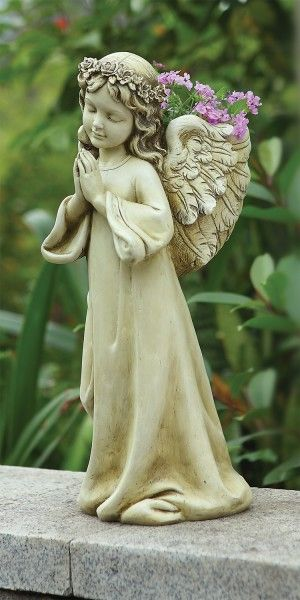 17 best images about catholic garden statues on pinterest for Praying angel plant