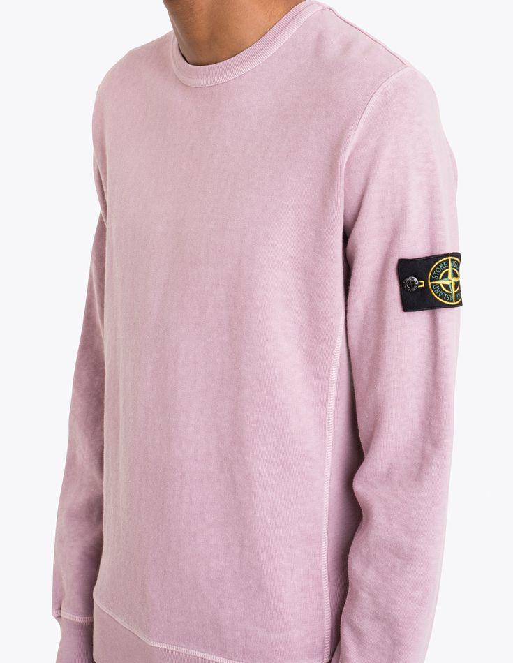 Stone Island - Ribbed Panel Sweatshirt Pink