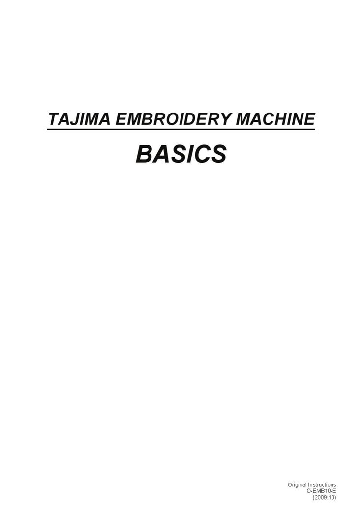 Tajima Machine Basics: Basic terminology of embroidery