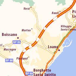 Kaart van Loano - plattegrond van Loano - ViaMichelin