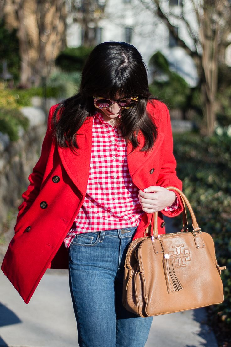 Red Gingham Shirt (Orchids & Oxfords)