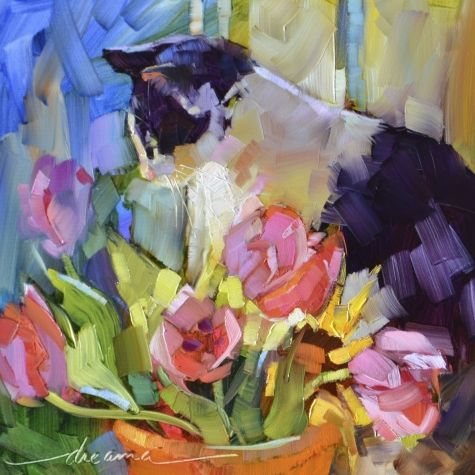 Dreama's workshop was one of the best I've ever taken. Cats. Flowers. France. I'm in painting heaven...www.dreamatolleperry.com
