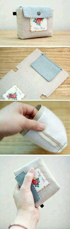 This would make a cute doll handbag or change purse...