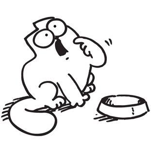 Simons Cat Hungry Sticker