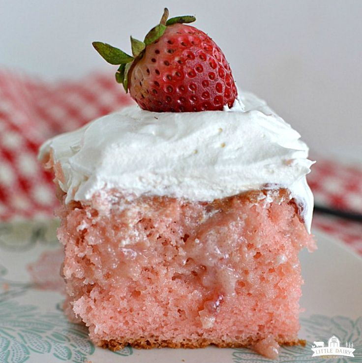 Strawberry Poke Cake happens to be one of my new favorite cakes and definitely my new favorite version of strawberries and cream! This is the cake you are going to want to serve from Valentine's Da…