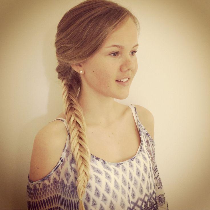 School exams hair made by Pernilla Kilgren
