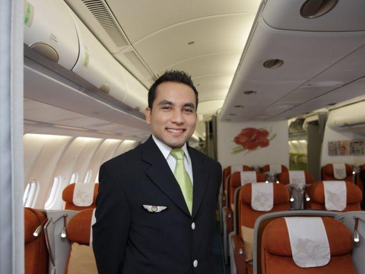 Air Mauritius flight attendant.