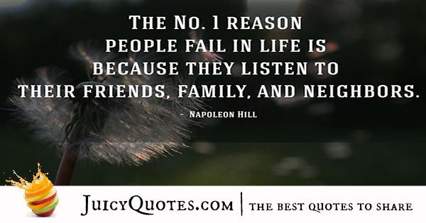 Quote About Success - Napoleon Hill