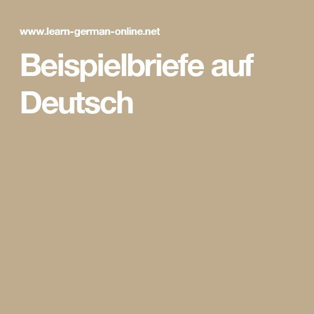Beispielbriefe auf Deutsch