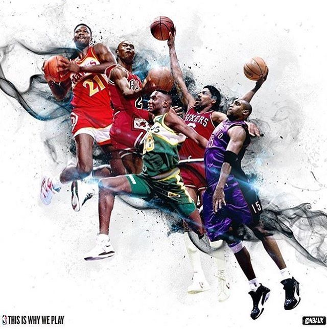 -------------------------------------------- Which are your favorite Dunkers? 🏀 -------------------------------------------- #nba #basketball #nbabasketball #nbaplayoffs #nbafinals #nbachamps #nike #nbamvp #adidas #nbaallstar #espn #sportscenter #nbaart #lebronjames #dunk #champions #usabasketball #dominiquewilkins #atlantahawks #michaeljordan #chicagobulls #spudwebb #shawnkemp #seattlesupersonics #okcthunder #drj #juliuserving #blakegriffin #vincecarter #torontoraptors