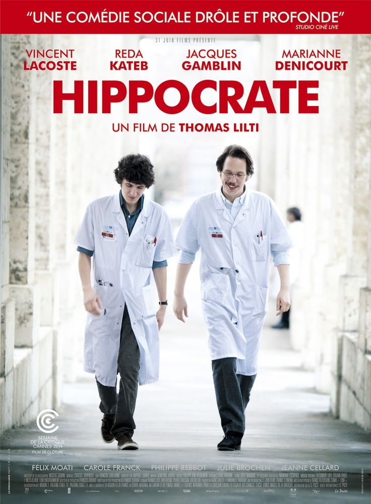 Hippocrate (France, 2014) The internship of a young medical doctor pushes him to his limits. Admittedly I saw only the last 45 minutes of this film, but it didn't make me want to see the beginning. Based on what I saw, I'll give it 2.5 stars