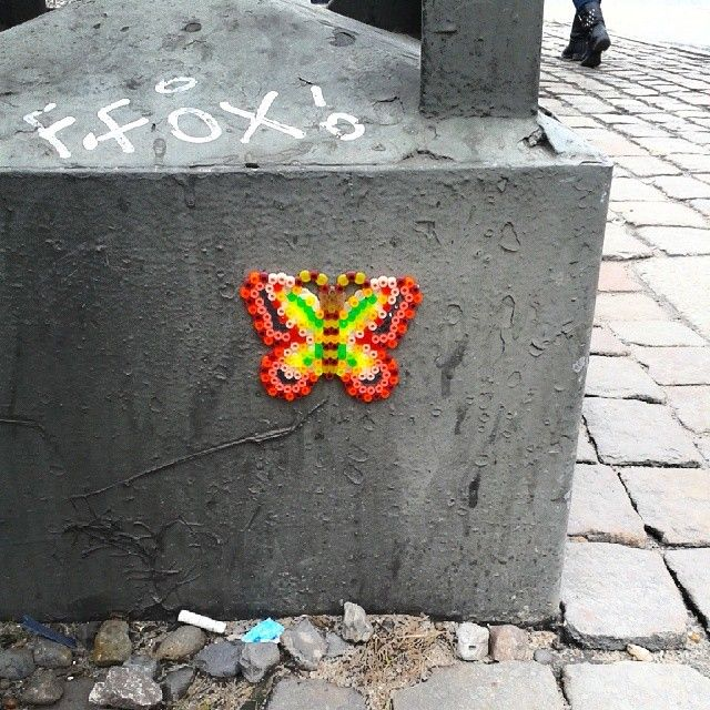 Hama street art by goamommy