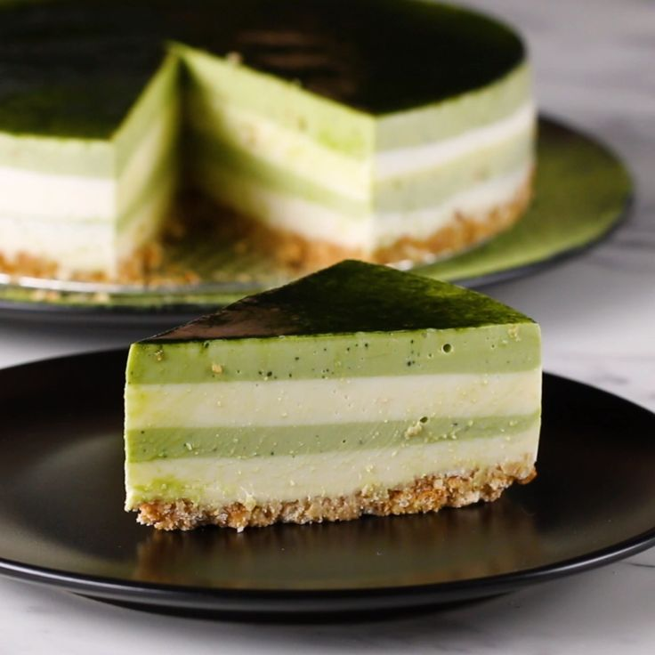 Matcha Layered Cheesecake
