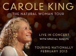 Carole King Platinum Tickets The Plenary - 18/02/2013