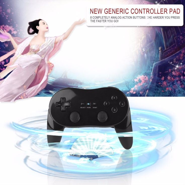 Classic Wired Game Controller Gaming Remote Pro Gamepad Shock Joypad Joystick For Nintendo Wii Second-generation Black & White //Price: $15.28 & FREE Shipping //  #gamergirl #gaming #video #videogame #gamingmouse