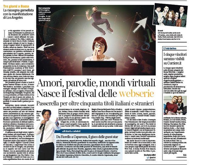 #rwf13 Non ci facciamo proprio mancare nulla, siamo anche sul Corriere della Sera di oggi, a pag. 59 :-)  www.romawebfest.it