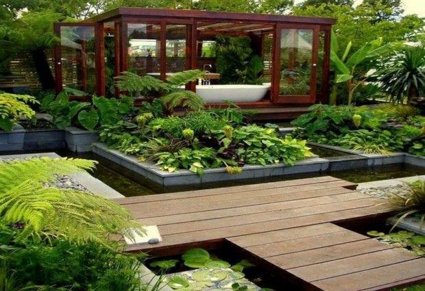 Les 25 meilleures idees concernant jardin luxuriant sur for Salle de bain design avec boites à archives décoratives