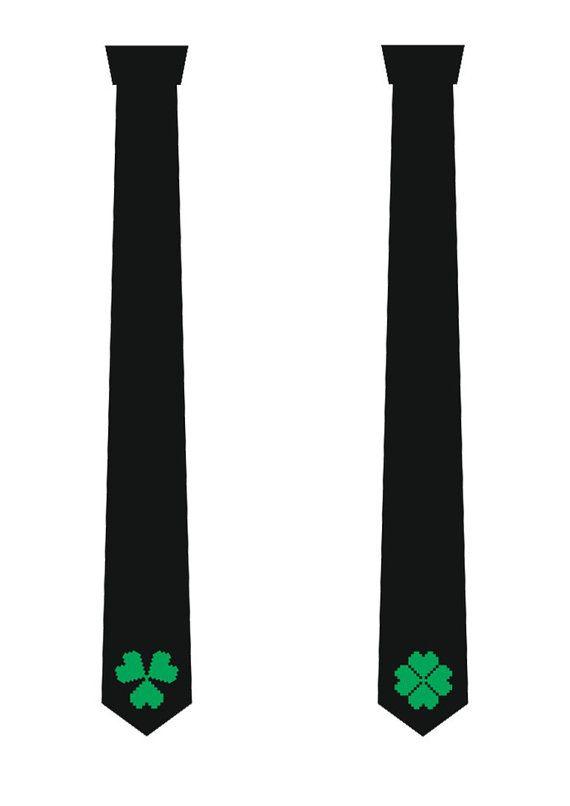 Clover necktie. Shamrock tie. Creative necktie. Gift tie. Irish tie