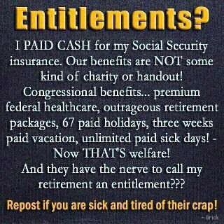 Social Security is not an entitlement - it was paid for every payday.For those…