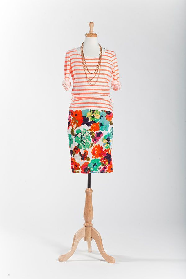 multicolor floral scuba cassie skirt / lularoe What a GREAT way to wear our LuLaRoe