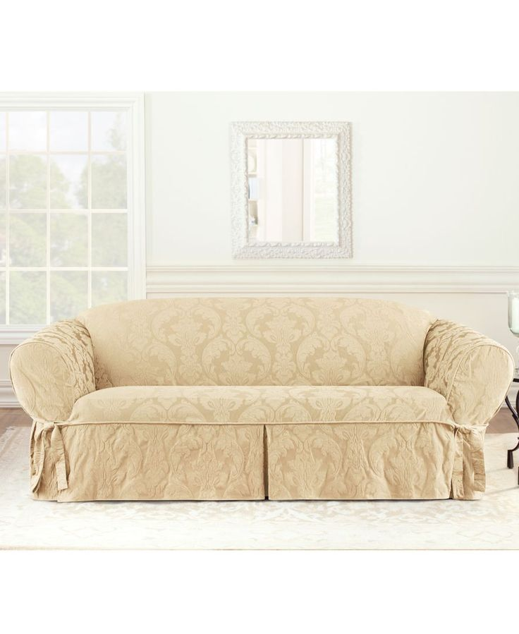 Sure Fit Slipcovers, Matelasse Damask 1-Piece Sofa - Slipcovers - for the home - Macy's