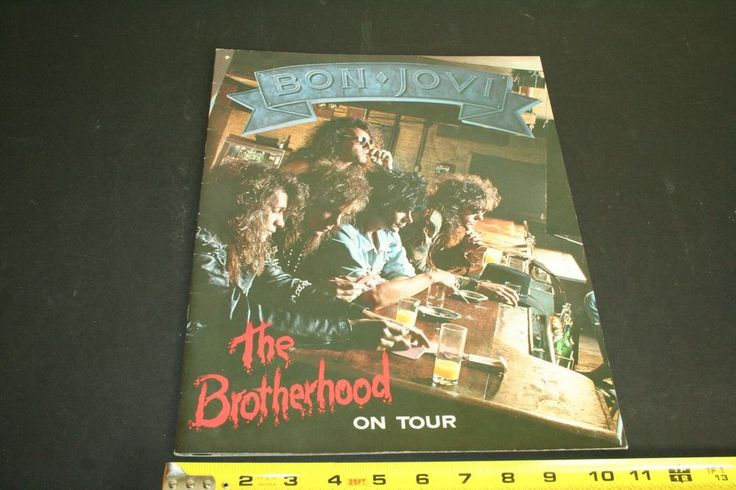 Bon Jovi The Brotherhood on Tour concert program