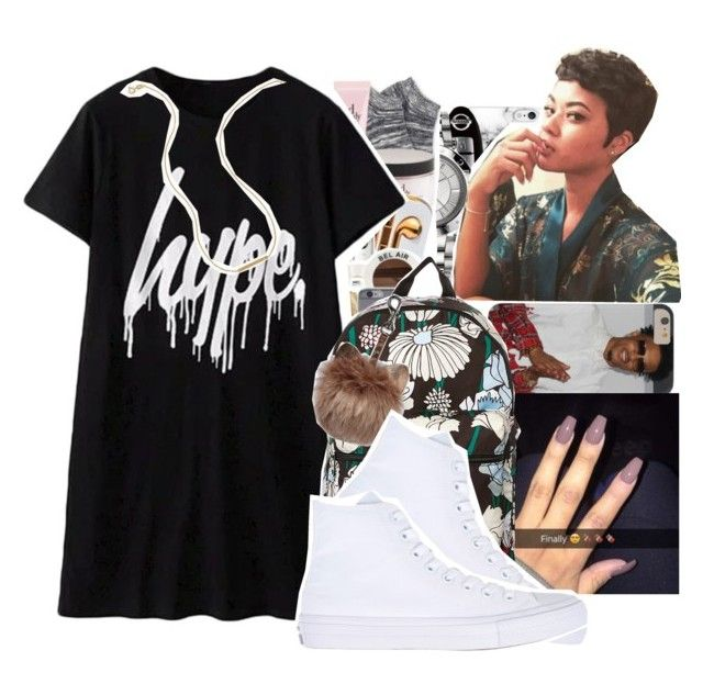 """hype"" by bbynisa ❤ liked on Polyvore featuring adidas Originals, Converse and Wish by Amanda Rose"