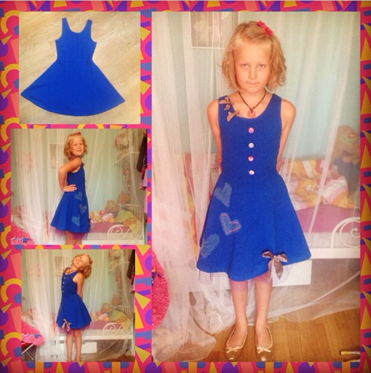 My daughters birthday dress that I made her