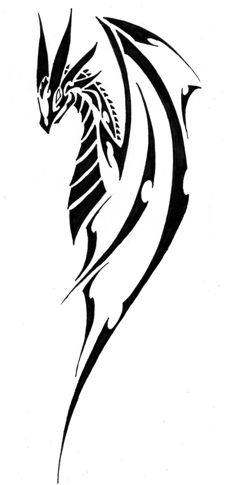 The 25+ best Tribal dragon tattoos ideas on Pinterest