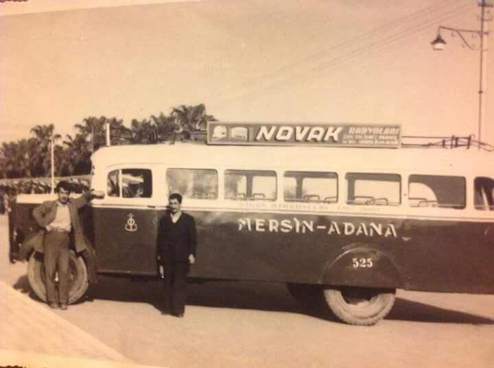 Mersin 1950 ler Mersin Adana otobüsü..