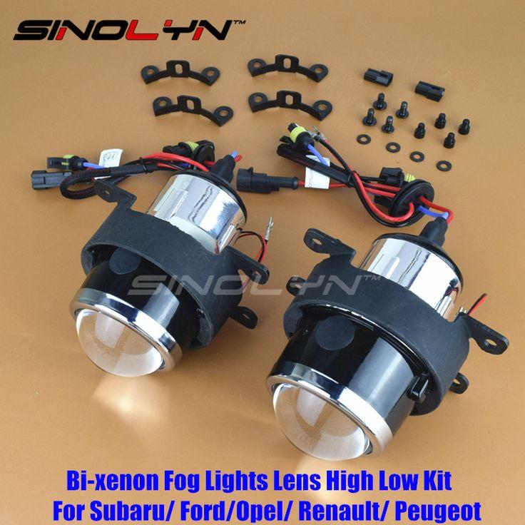 SINOLYN Car HID Bi-xenon Fog Lights Projector Lens Driving Lamps Retrofit For Ford/ Honda CRV Fit/ Subaru/ Renualt/Suzuki Swift