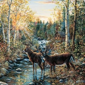 Brewster Round The World 259 72024 Pre Pasted Wall Mural Wild Deer, 72 Part 40