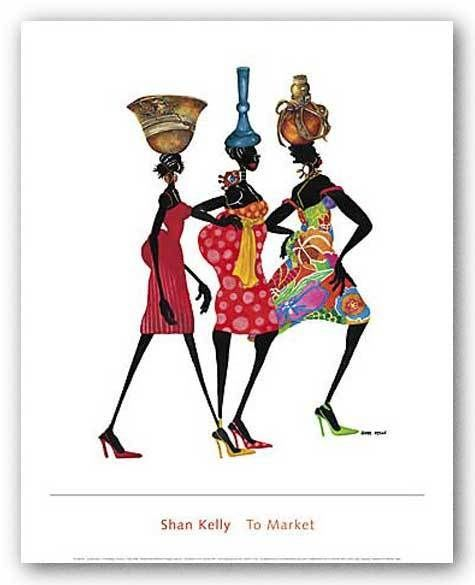 AFRICAN AMERICAN ART PRINT To Market Shan Kelly ★♥★