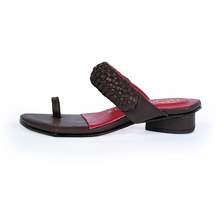 Boho Luxe - Handplaited leather sandal #pzdvintage