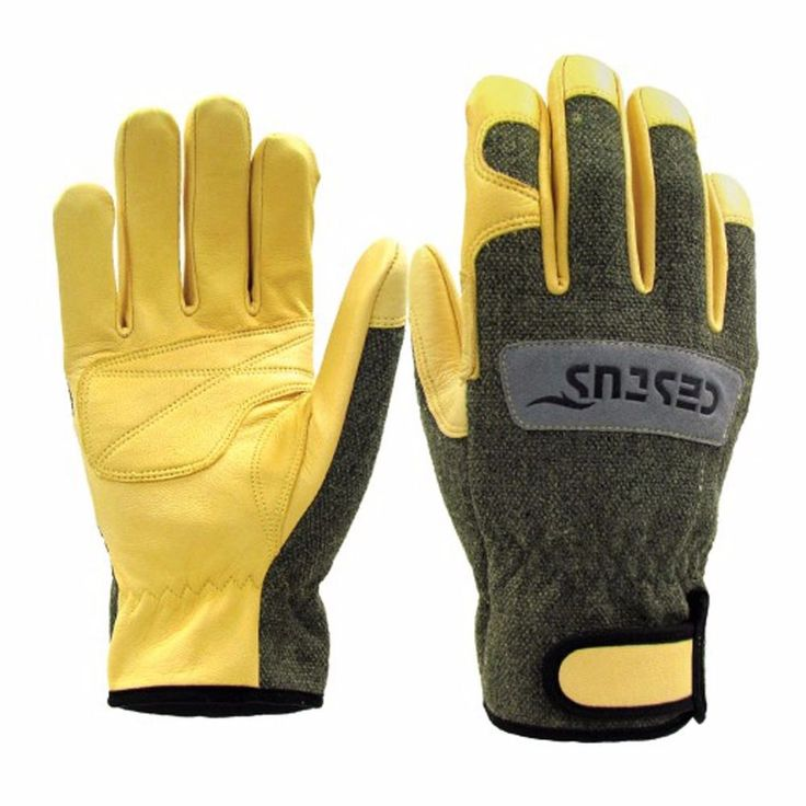 TIG/MIG Argon Welding Heat & Cut Resistant Leather Lasmid Work Gloves M-XL size #HandMax