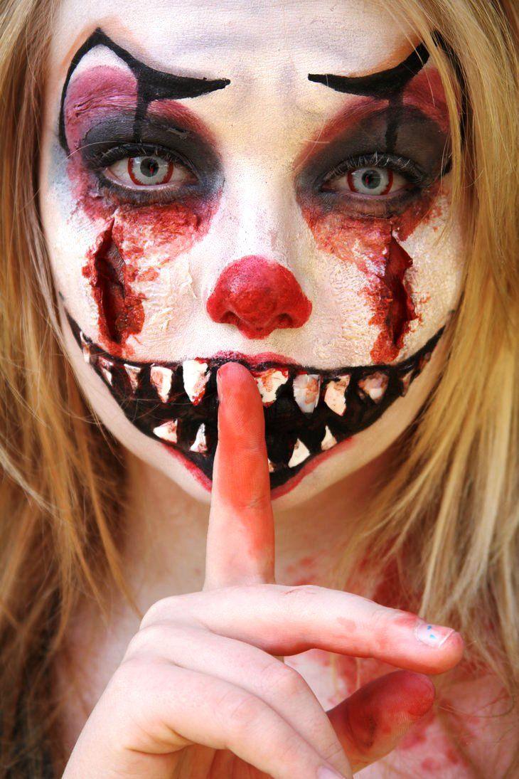 Evil Girl Clown Makeup